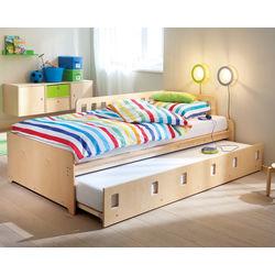 Bett Bine Für Zwei Kinder JAKO O, Natur