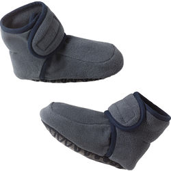 Fleece booties with stopper sole
