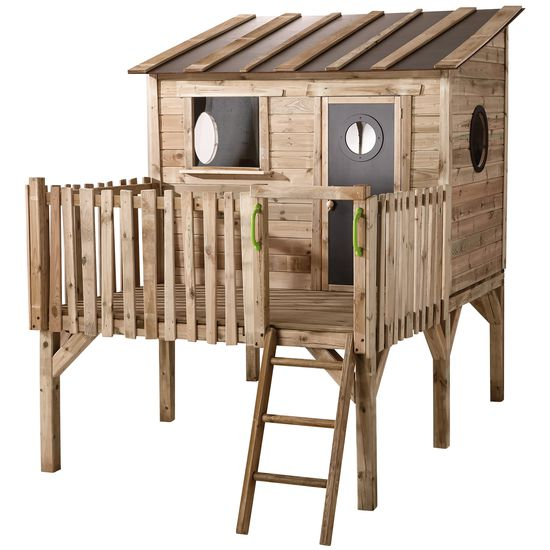 stelzen spielhaus f r den garten jako o kiefern holz gartenspielh user gartenspielzeug. Black Bedroom Furniture Sets. Home Design Ideas