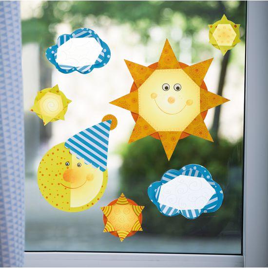 Fensterbilder Vorlagen Sonne, Mond & Sterne (9-teilig) » JAKO-O