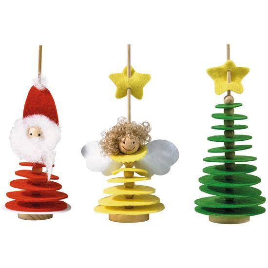 Filz stecker weihnachten bastelset f r 3 st ck jako o for Dekostecker weihnachten