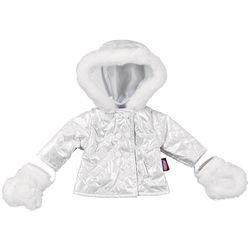 Winterjacke und Handschuhe für Puppe 50 cm, 2-teilig