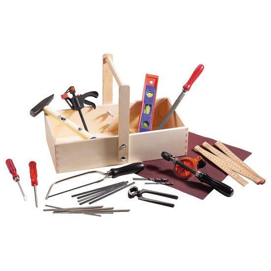 Echtes Werkzeug für Kinder - Echtes Kinderwerkzeug - Jako-o Werkzeugkiste Kinder Holz