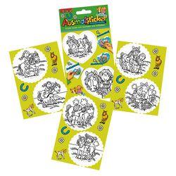 Ausmalsticker, 2 x 8 Sticker