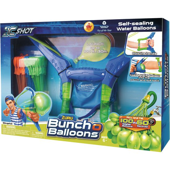 zuru bunch o balloons slingshot wasserbomben schleuder. Black Bedroom Furniture Sets. Home Design Ideas