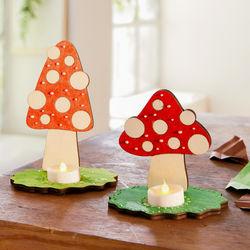 Sachenmacher Holz-Pilzlichter