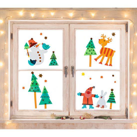 Weihnachtsbasteln Fensterbilder.Sachenmacher Fensterbilder Weihnachten Bastelset