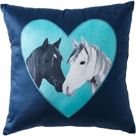tri case cover gifts in square usa product pillow neutral tan horse flax made covers horses america