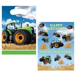Tüten- und Sticker-Set Traktor