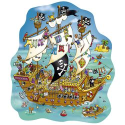 Puzzle Piratenschiff, 100 Teile