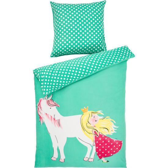 Biber Kinder Bettwäsche Pferd Mit Reißverschluss Jako O 135x200 Cm