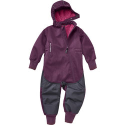 Softshell jumpsuit with extendible cuffs